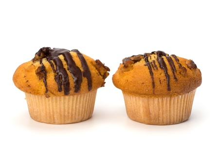 muffin isolated on white background photo
