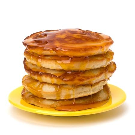Pancakes  stack on white background photo