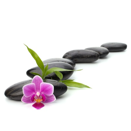 Zen pebbles path. Spa and healthcare concept. photo