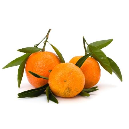 Tangerines isolated on white background photo