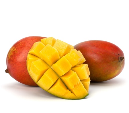 Mango fruit isolated on white background Stock Photo - 10405726