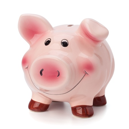 bankkonto: Sparschwein isoliert auf wei�em Hintergrund