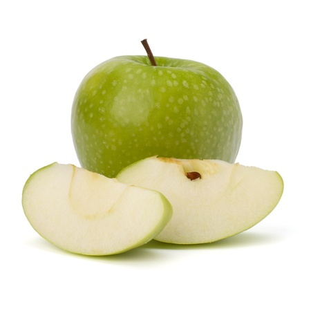 sliced apple: apple isolated on white background Stock Photo