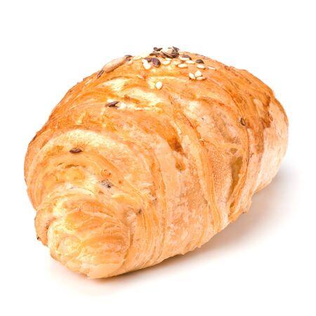 croissant isolated on white background photo