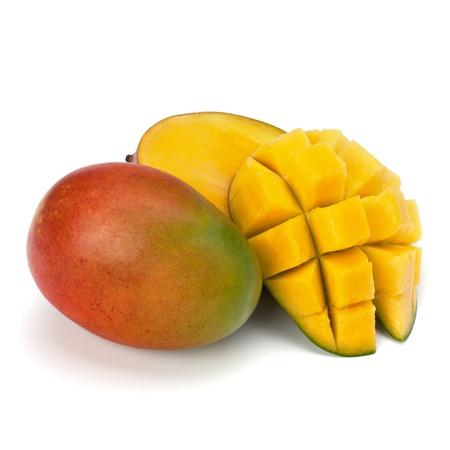 mango: Mango Obst isoliert auf wei�em Hintergrund