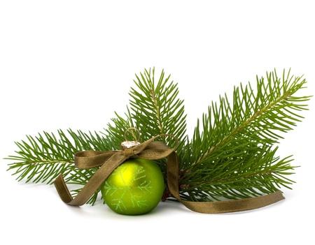 Christmas ball decoration isolated on white background