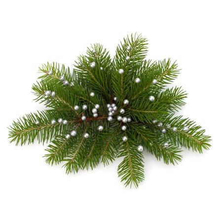 comida de navidad: Decoraci�n de Navidad aislado sobre fondo blanco Foto de archivo