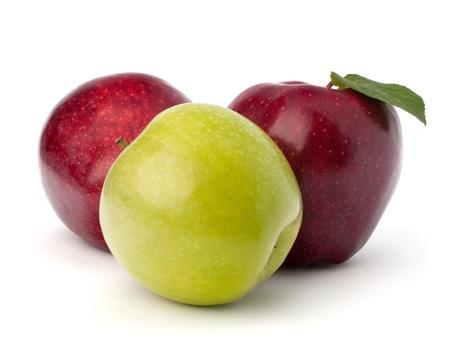 Sweet apples isolated on white background photo