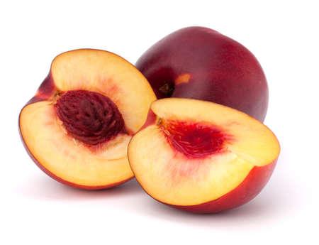 Nectarine fruit isolated on white background Stock Photo - 10666265