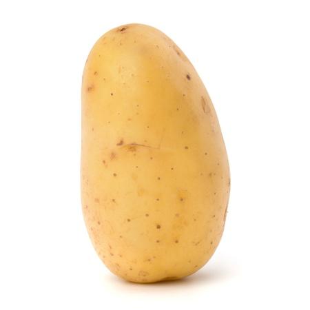картофель: Новый картофель на белом фоне крупным планом
