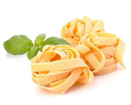 italian pasta: Italian pasta fettuccine nest isolated on white background