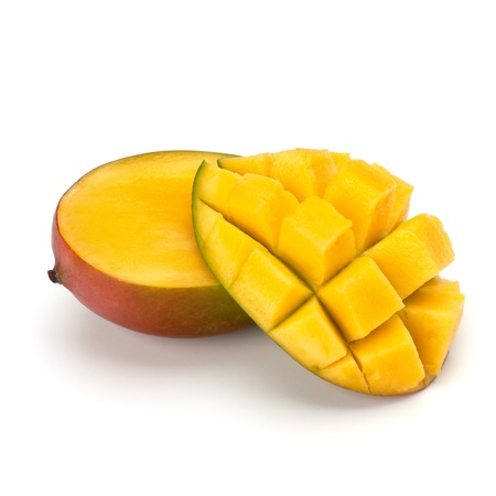 Mango fruit isolated on white background photo