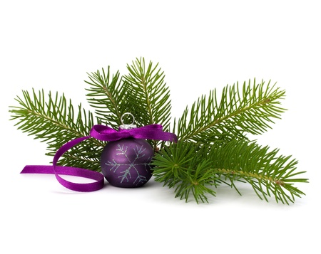 religious life: Christmas ball decoration isolated on white background