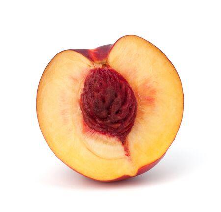 Nectarine fruit isolated on white background photo