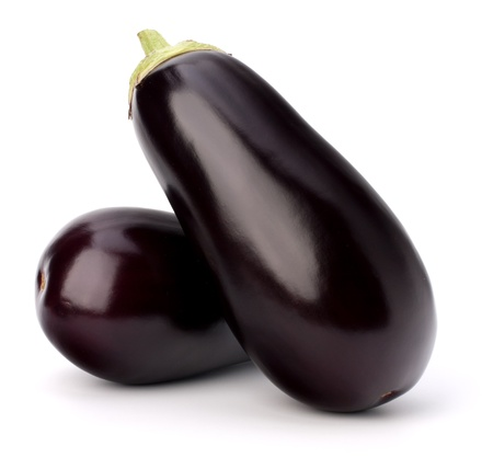 eggplant or aubergine vegetable on white background photo