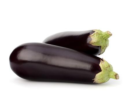 баклажан: баклажаны или баклажаны овощей на белом фоне Фото со стока