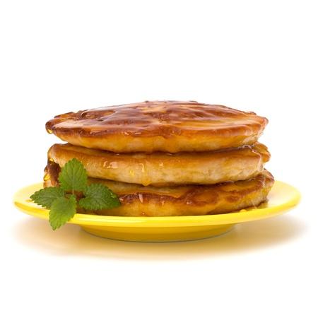 Pancakes  stack on white background Stock Photo - 13192848