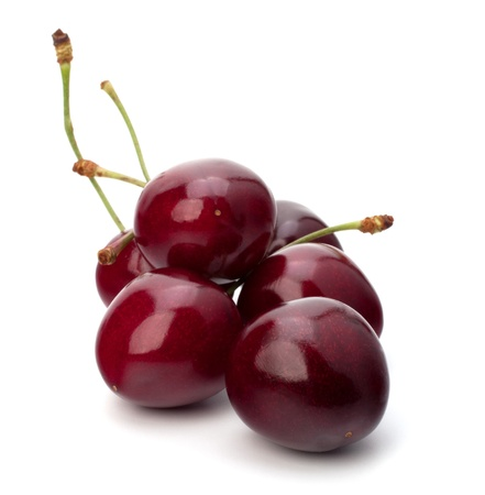 sweet and sour: Cherry isolated on white background Stock Photo