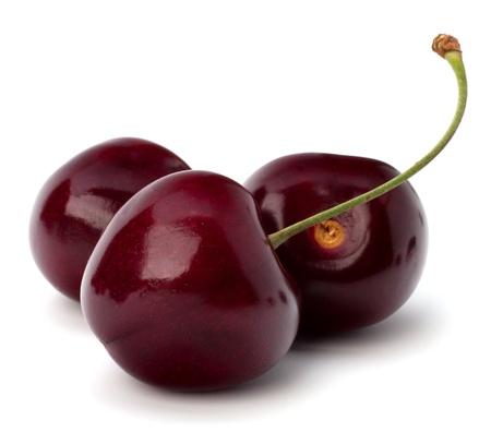 kersenboom: Cherry geïsoleerd op witte achtergrond Stockfoto