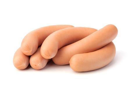 Frankfurter sausage isolated on white background Stock Photo - 13191771