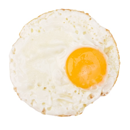 Fried Eggs isolated on white background cutout photo