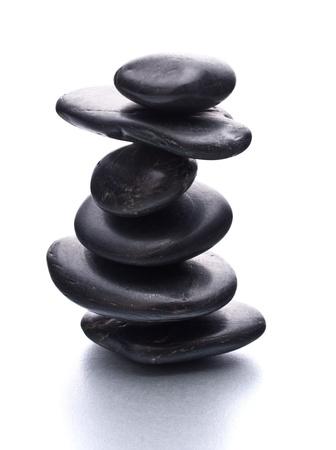 Zen pebbles balance. Spa and healthcare concept. photo