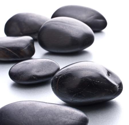 Zen pebbles. Stone spa and healthcare concept. photo