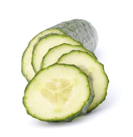 Cucumber slices  isolated on white background cutout Stock Photo - 13188332