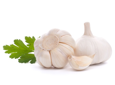 garlic bulb isolated on white background cutout Stock Photo - 13189191