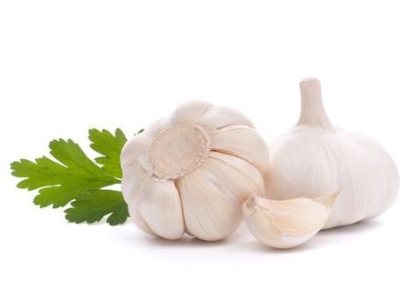 garlic bulb isolated on white background cutout Stock Photo - 13189191