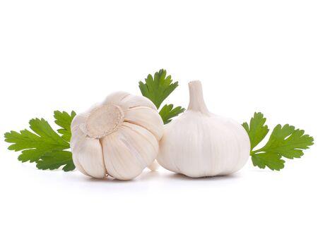 garlic bulb isolated on white background cutout photo