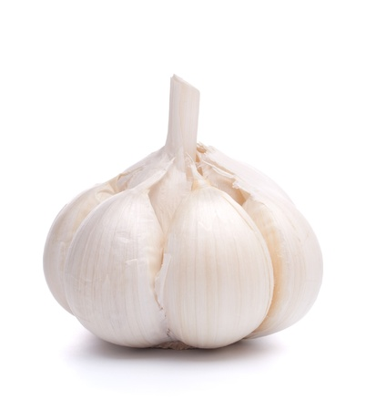 fresh garlic: garlic bulb isolated on white background cutout Stock Photo