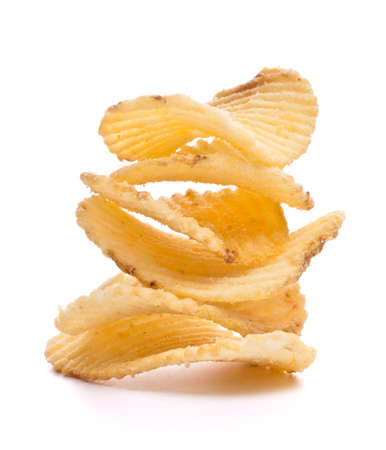 potato chips isolated on white background Stock Photo - 13189162