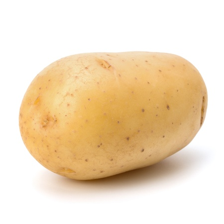 New potato isolated on white background close up Stock Photo