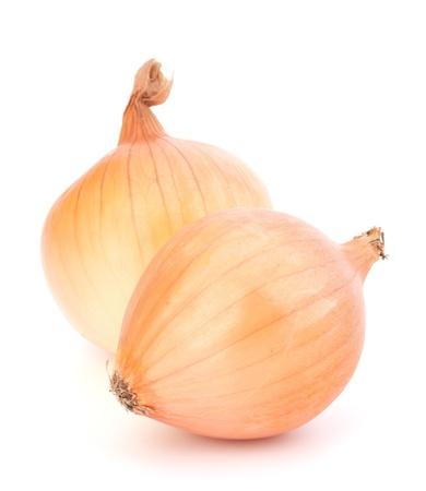 unpeeled: Onion  isolated on white background Stock Photo
