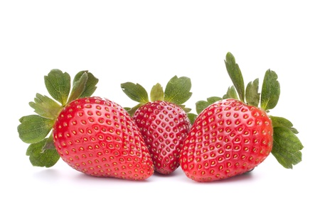 Strawberry isolated on white background cutout photo