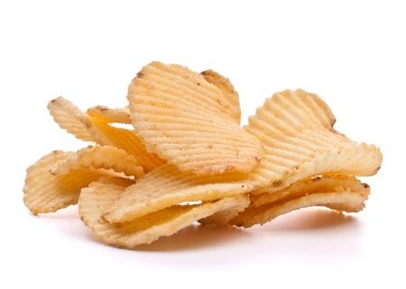 potato crisps: potato chips isolated on white background