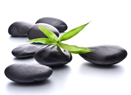 Zen pebbles. Stone spa and healthcare concept. photo