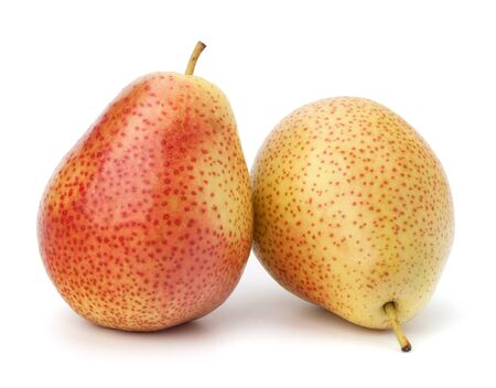 Pear fruits isolated on white background photo