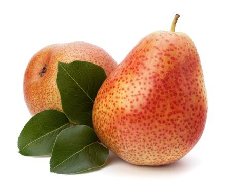Pear fruits isolated on white background Stock Photo - 13298470