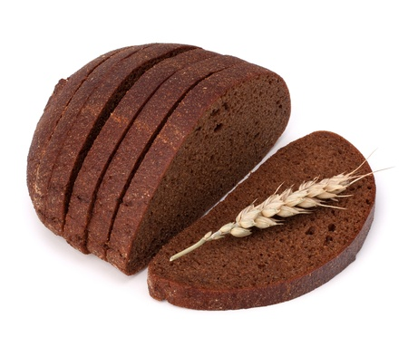 rye bread isolated on white background Stock Photo - 13298540
