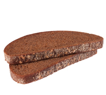 rye bread isolated on white background photo