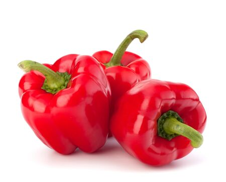 peper: red pepper isolated on white background
