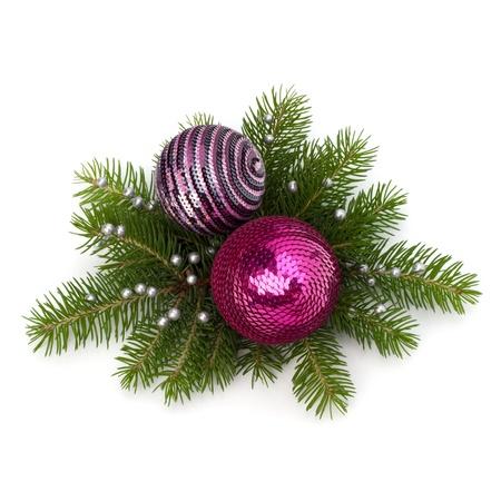 christmas eve: Christmas ball decoration isolated on white background