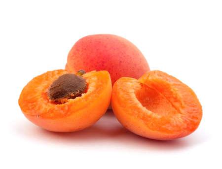 Ripe apricot fruit isolated on white background Stock Photo - 13331880