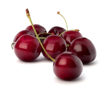 Cherry isolated on white background photo