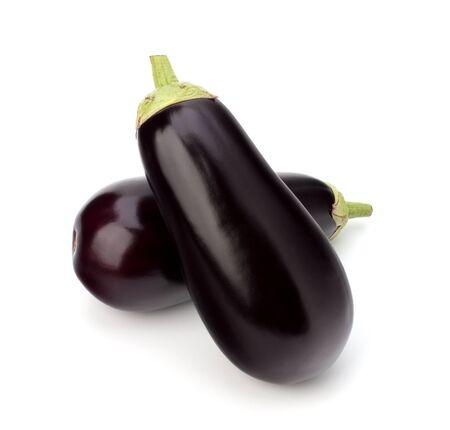 eggplant or aubergine vegetable on white background Stock Photo - 13335907