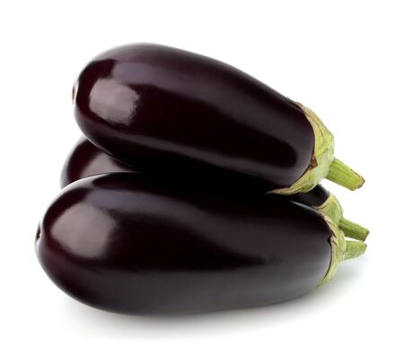 eggplant or aubergine vegetable on white background Stock Photo - 13335996