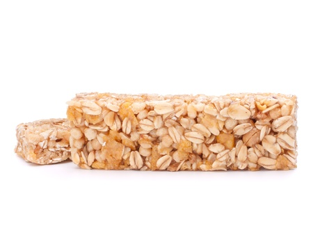 Healthy munchies isolated on white background photo