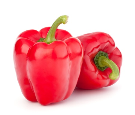 bell peper: red pepper isolated on white background